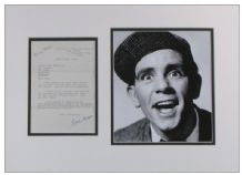 Norman Wisdom Signed Letter Display